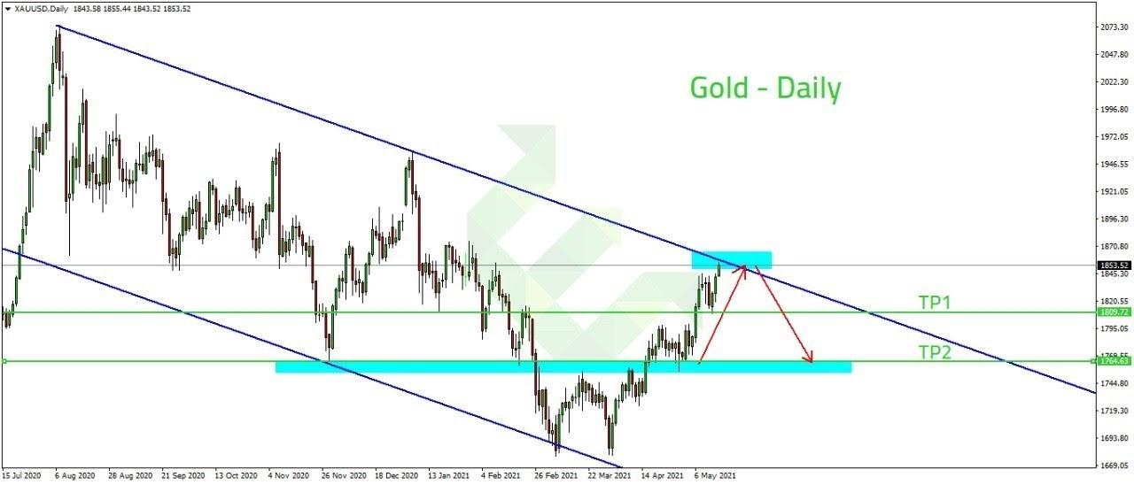 الرسم البياني اليومي لسعر الذهب